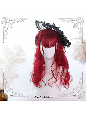 Miki Air Bangs Mid-length Curly Synthetic Lolita Wig by Dalao Home