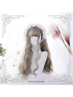 Air Bangs Egg Roll Long Curly Synthetic Lolita Wig by Dalao Home