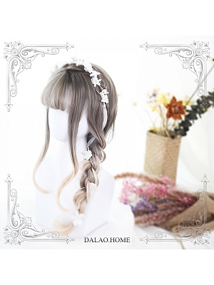 Olivia Air Bangs Mid-length Curly Synthetic Lolita Wig by Dalao Home