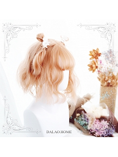 Churnie Air Bangs Egg Roll Short Curly Synthetic Lolita Wig by Dalao Home