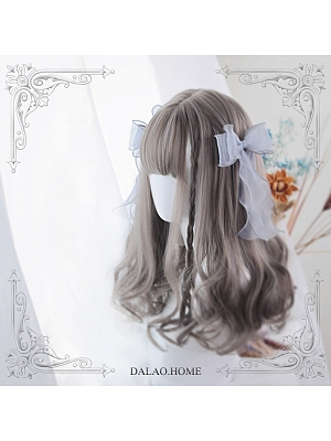 Grace Mid-length Wool Curly Synthetic Lolita Wig by Dalao Home