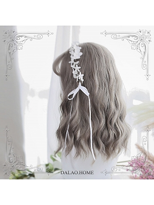 Polly Air Bangs Water Ripple Mid-length Curly Synthetic Lolita Wig by Dalao Home