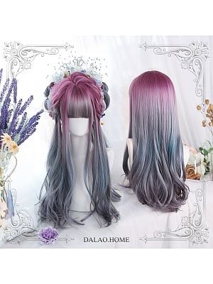Liuli Gradient Long Curly Synthetic Lolita Wig by Dalao Home