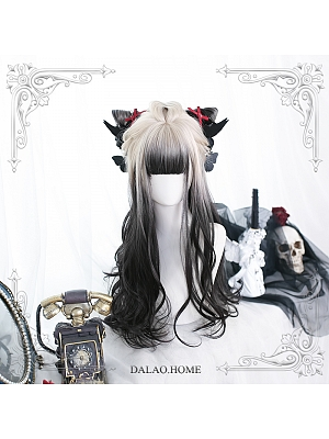 Daytime Gradient Long Curly Synthetic Lolita Wig with Bangs by Dalao Home