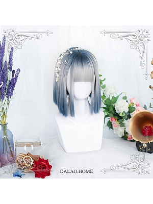Gradient Short Straight Synthetic Lolita Wig with Bangs by Dalao Home