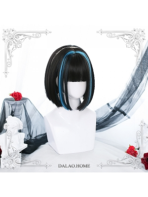 Short Straight Synthetic Lolita Wig with Bangs by Dalao Home