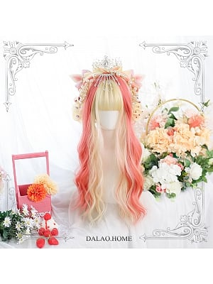 Blazing Sun Long Water Ripples Synthetic Lolita Wig with Bangs by Dalao Home