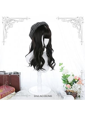 Mid-length Curly Synthetic Lolita Wig with Bangs by Dalao Home