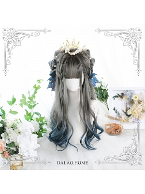 Fog Punishment Long Curly Synthetic Lolita Wig with Bangs by Dalao Home