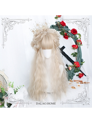Alyssa Long Wool Curly Synthetic Lolita Wig with Bangs by Dalao Home