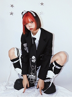Teddy Harajuku Style Suit Jacket by Wine Meat Market
