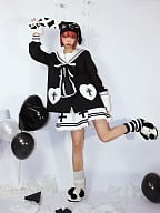 Heart Shaped Cross Harajuku Style Sailor Collar Outerwear by Wine Meat Market