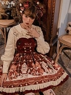 Christmas Teddy Lolita Overall Dress JSK by B.Dolly
