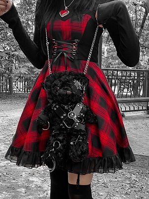 Black Teddy Gothic Lolita Two Ways Wearing Bag  by Blood Supply