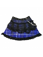 Witch Apocalypse Tulle Overlay Skirt with Chain by Blood Supply