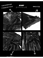 Broken Machine Gothic Trumpet Sleeve PU Jacket by Blood Supply