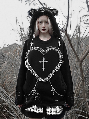Christmas Sacrifice Gothic Long Sleeve Sweatshirt by Blood Supply