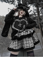 Christmas Sacrifice Gothic Tiered Flounce Plaid Skirt by Blood Supply