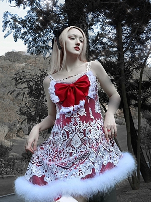 Christmas Sacrifice Gothic Red Cami Dress by Blood Supply