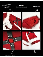 Christmas Sacrifice Gothic Sailor Collar Coat by Blood Supply