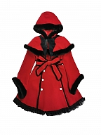 Christmas Sacrifice Gothic Hooded Long Coat by Blood Supply