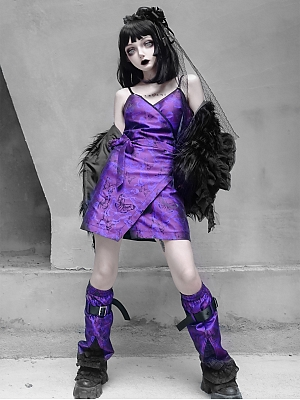 Purple Butterfly Dream Gothic Butterfly Purple Cami Dress by Blood Supply