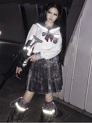 Cyberpunk Print JK Uniform Full Set by Blood Supply