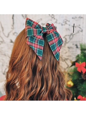 Handmade Christmas Plaid Bow Hairpin by Besozealous