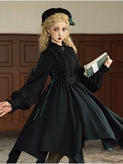 Witch Long Sleeve Lolita Dress OP by Butterbeer Studio