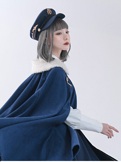 Snow White Military Lolita Hat by Calico Cat Lolita
