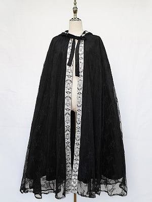 Winter Tour Elegant Lolita Dress Matching Cape by Cat Highness