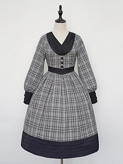 Autumn Vintage Plaid Lolita Dress OP by Cat Highness