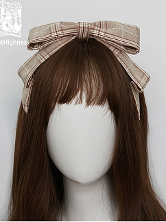 Autumn Vintage Plaid Lolita Matching KC by Cat Highness