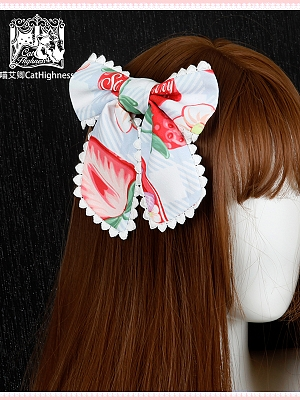 Strawberry Kitty Sweet Lolita Dress Matching Hairclip by Cat Highness
