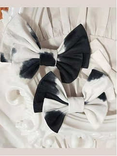 Nougat Cute Cow Lolita Dress Matching Hairclip by Cocoa Butter Lolita