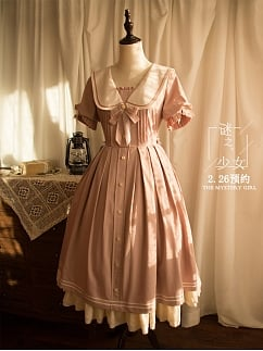 The Mystery Girl Short Sleeve Lolita Dress OP Long Version by Original Project