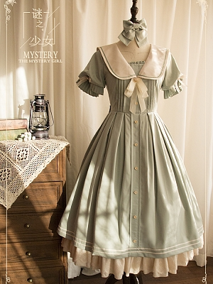 The Mystery Girl Short Sleeve Lolita Dress OP Short Version by Original Project