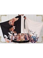 Thousands of Tsubaki Cranes Wa Lolita Wide Sleeve Haori by CEL