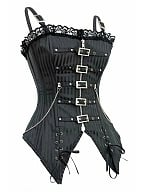 Gothic Sexy Buckle Corset Top by Cosmic Girl