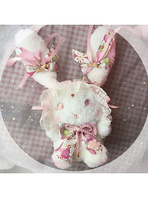 Lolita Pink Doll Bunny Backpack by Chestnut Handmade