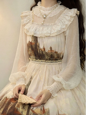 Twilight City Elegant Lolita Blouse by Cheese Cocoa