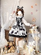 Pastoral Love Song Cow Print Lolita Dress JSK by Cheese Cocoa