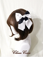 Pastoral Love Song Cow Print Lolita Dress Matching Hairclip by Cheese Cocoa