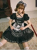 Little Doll Lolita Dress Matching Cat Ears&Tail / KC / Hairclips by CHUBAI 1998