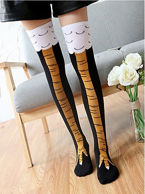 Funny Chicken Feet Cotton Stockings
