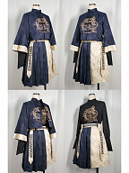 Eastern Dragon and Southern Rosefinch Qi Lolita Embroidery Top and Skirt by Castle Too