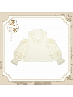 Penglai Travel Notes Lolita Open Shoulder Chiffon Blouse by Crucis Universal Tailor Company