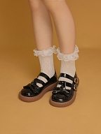 Heart Shaped Pattern Lace Lolita Socks by Crucis Universal Tailor Company