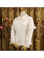 Peter Pan Collar Detachable Long Sleeves Lolita Shirt by Dreaming and Burning the World