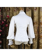 Peter Pan Collar Leg-of-mutton Sleeves Lolita Shirt by Dreaming and Burning the World